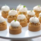 poached forrelle pear tarts