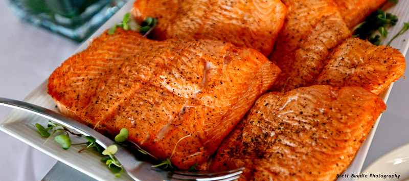 BBQ Catering: BBQ Salmon