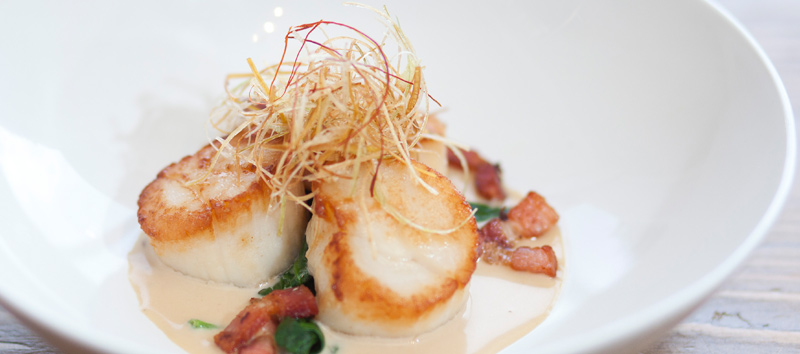 Interactive Chef Stations: Scallop Dish