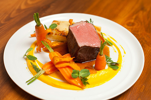 Savoury Chef Dish: Beef Striploin With Carrots