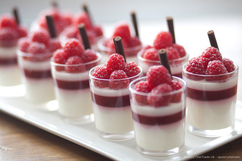 White Chocolate Panna Cotta Dessert